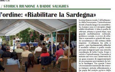 "Parola d'ordine: ""Riabitare la Sardegna"""